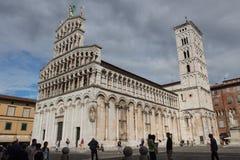 San Michele dans Foro Église médiévale Lucques l'Italie Photos stock