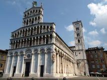 San Michele in der Foro Kirche - Lucca, Stockbild