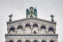 San Michele in Foro, a church in Lucca, Italy. Stock Photos