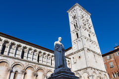 San Michele in Foro church, Lucca, Italy Royalty Free Stock Image