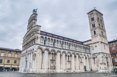 San Michele in Foro, a church in Lucca, Italy. Royalty Free Stock Photography