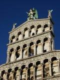 San Michele in Foro della parte anteriore di Lucca Immagini Stock Libere da Diritti