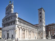 San Michele in foro kyrka, Lucca arkivbild