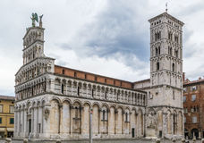San Michele in Foro, Lucca, Italy Stock Images
