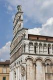 San Michele in foro medeltida kyrklig fasad italy lucca Royaltyfri Bild