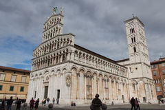 San Michele in Foro. Medieval church. Lucca. Italy. Royalty Free Stock Images