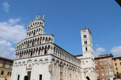 San Michele in Foro - Roman Catholic Church in Lucca royalty free stock photo