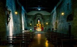 San Michele kyrka i Arezzo, Tuscany Arkivfoto
