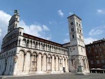 San Michele nella chiesa di Foro - Lucca Immagini Stock Libere da Diritti