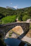 San Michele Średniowieczny most, piazza al Serchio, Lucca Obraz Royalty Free