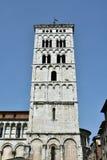 San Michele w Foro średniowieczny dzwonkowy wierza obraz stock
