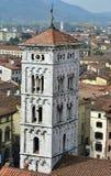 San Michele w Foro średniowieczny dzwonkowy wierza zdjęcie stock