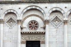 San Michele w Foro kościół - Lucca Obraz Stock