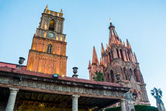 San Miguel Allende pink Royalty Free Stock Images