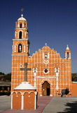 San miguel almoloyan church. Church of the town of san miguel almoloyan near the city of toluca, mexico Royalty Free Stock Photo