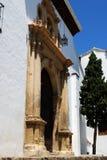 San Miguel church entrance, Granada. Royalty Free Stock Photo