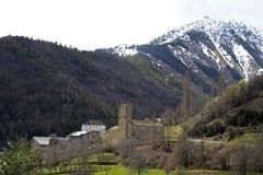 San Miguel Church - (Linas de Broto) Huesca Stock Photo