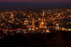 San Miguel de Allende Church foto de archivo libre de regalías