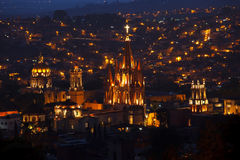 San Miguel de Allende Church Stock Image