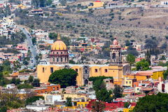 San Miguel de Allende. San Miguel de Allende, a colonial city in Mexico central highlands, is known for its baroque Spanish architecture, thriving scene and royalty free stock photography