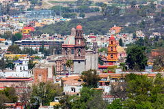 San Miguel de Allende. San Miguel de Allende, a colonial city in Mexico central highlands, is known for its baroque Spanish architecture, thriving scene and stock photography