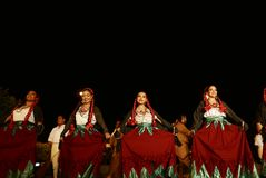 San Miguel De Allende-January 18, 2017: Mexicaanse Volksdansers Royalty-vrije Stock Foto's