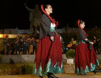San Miguel De Allende-January 18, 2017: Mexicanska Folk dansare Royaltyfri Fotografi