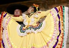 San Miguel De Allende-January 17, 2017: Mexicanska Folk dansare Royaltyfri Foto