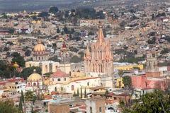 San Miguel de Allende Messico trascura fotografia stock libera da diritti