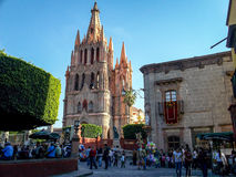 San Miguel de Allende, Mexico. San Miguel de Allende is a charming city located in the central highlands of the Mexican state of Guanajuato. Its cobblestone royalty free stock photography