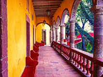 San Miguel de Allende, Mexico. San Miguel de Allende is a charming city located in the central highlands of the Mexican state of Guanajuato. Its cobblestone royalty free stock photos