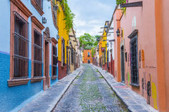 San Miguel de Allende. MEXICO - MAY 31 : Street view in  , Mexico on May 31 2015. The historic city  is UNESCO World Heritage Site since 2008 Stock Image