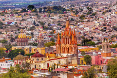 San Miguel de Allende Mexico Miramar Overlook Parroquia royalty-vrije stock fotografie