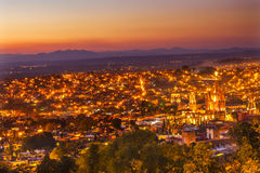 San Miguel de Allende Mexico Miramar Overlook Sunset Parroquia Stock Photo