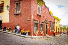 San MIguel de Allende Streets, Mexico Royalty Free Stock Photography