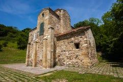 San Miguel de Lillo, церковь пре-романск, столетие IX стоковые изображения rf