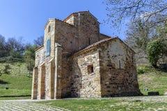 San Miguel de Lillo i Oviedo Royaltyfri Fotografi