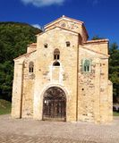 San Miguel de Lillo kyrka i Oviedo Arkivbilder