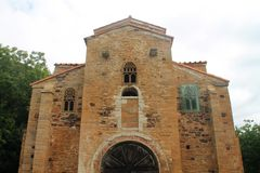 San Miguel de Lillo, Oviedo, Spanien Royaltyfri Bild