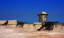 San miguel fort royalty free stock photos
