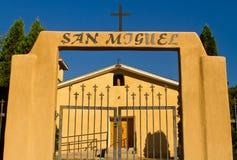 San Miguel katolsk kyrka, Abiquiu, New Mexico Arkivbild
