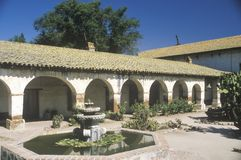The San Miguel Mission off the Ventura Highway in Central California Stock Images