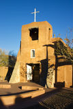 San Miguel Mission Santa Fe. Santa Fe's oldest church at sunset Royalty Free Stock Photography
