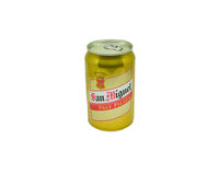 San Miguel Pale pilsen beer. Can isolated on white - LAGER BEER 330 ML. alcohol 5.0 Royalty Free Stock Photography