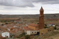 San Miguel's church in Teruel. San Miguel's church in Huesa del Común, Teruel, Spain Royalty Free Stock Image