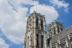 San Miguel y St Gudula en Bruselas, Bélgica Imagen de archivo libre de regalías