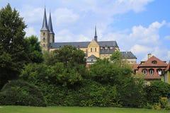 San Miguel y x27; iglesia de s de la abadía de Michaelsberg en Bamberg, Baviera, Foto de archivo