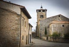 San Millà ¡ n kościół w Espinosa de Cervera Obrazy Royalty Free