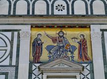 A detail of the san Miniato al Monte church Royalty Free Stock Images