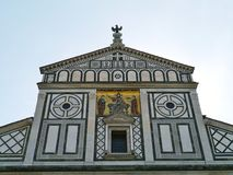 A detail of the san Miniato al Monte church Royalty Free Stock Photo